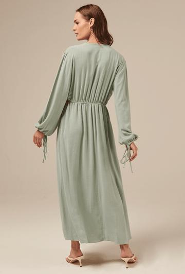 Vestido-Camrose-em-Linho-com-Manga-Bufante-Acqua-costas