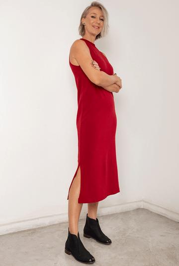 Vestido-Ballina-em-Tricot-Midi-com-Fendas-Hibisco-detalhe-1