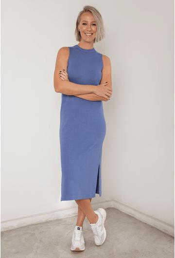 Vestido-Ballina-em-Tricot-Midi-com-Fendas-Azul-principal