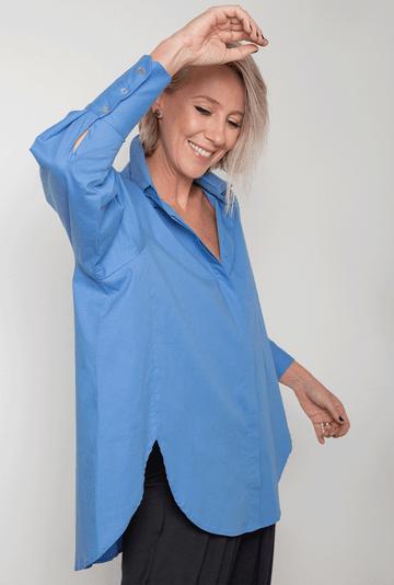 Camisa-Dinant-Tricoline-de-Algodao-Assimetrica-Azul-detalhe
