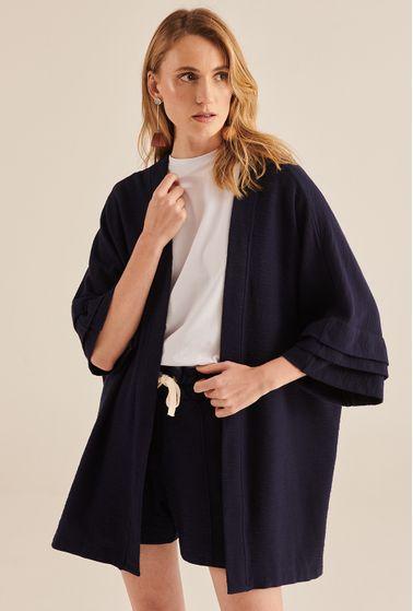 Kimono-Kalligoni-Algodao-Certificado-Amplo-Marinho