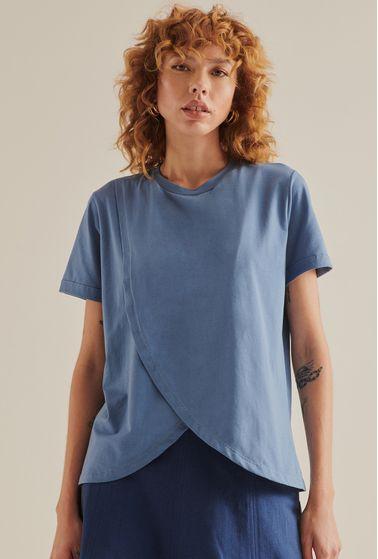 T-Shirt-Serik-em-Algodao-com-Abertura-Azul-principal